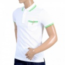 VERSUS VERSACE Mens Regular Fit Short Sleeve Polo Shirt in White