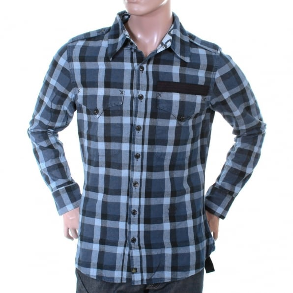 VIVIENNE WESTWOOD Anglomania Blue Check Slim Fit Shirt