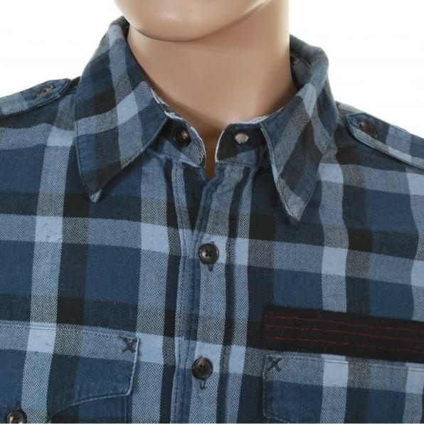 VIVIENNE WESTWOOD Anglomania Blue Check Slim Fit Shirt
