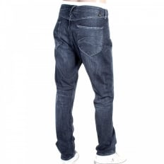 Mens Blue Stretch Low Crotch Denim