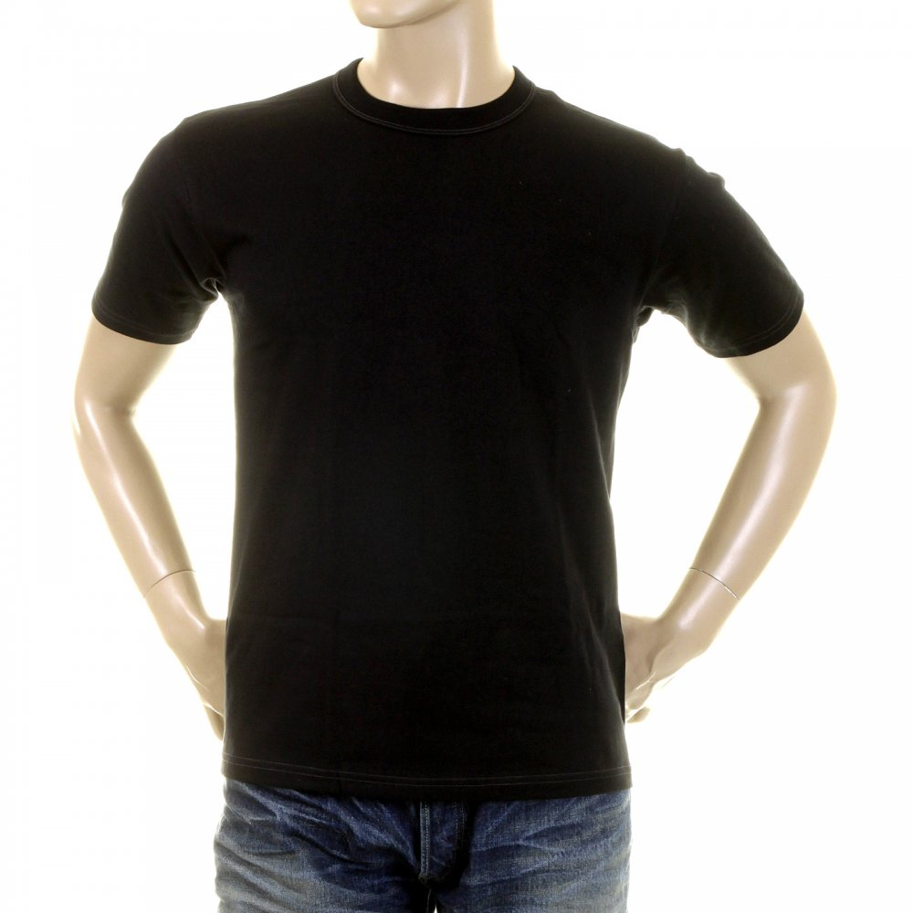 Crew Neck Plain Black T Shirts for Men by Whitesville at Niro Fashion