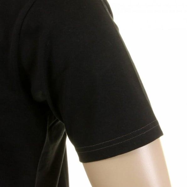 WHITESVILLE Black Cotton Crew Neck Short Sleeve Regular Fit Tubular One Piece Body T-Shirt WV73544