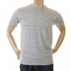 Marl Grey Regular Fit Short Sleeve Crew Neck Loopwheeled T Shirt WV73544