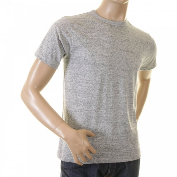 WHITESVILLE Marl Grey Regular Fit Short Sleeve Crew Neck Loopwheeled T Shirt WV73544