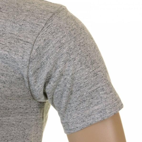 WHITESVILLE Marl Grey Regular Fit Short Sleeve Crew Neck Loopwheeled T Shirt WV73544