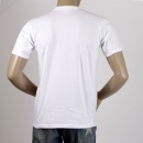 WHITESVILLE White Cotton Crew Neck Short Sleeve Regular Fit Tubular One Piece Body T-Shirt WV73544