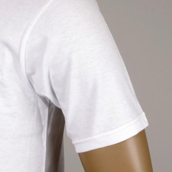 WHITESVILLE White Cotton Crew Neck Short Sleeve Regular Fit Tubular One Piece Body T-Shirt WV73544