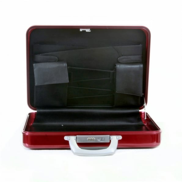 RMC JEANS X Zero Halliburton Limited Edition Deep Red Aluminium Briefcase
