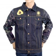 Embroidered Fudoumyouou denim jacket