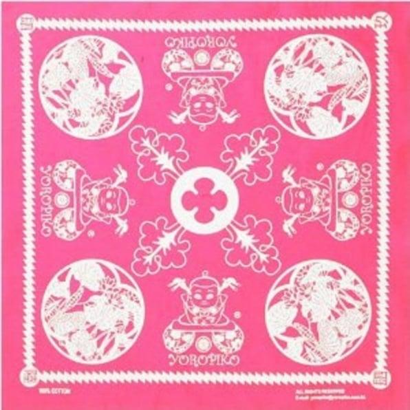 YOROPIKO Fuschia Printed bandana