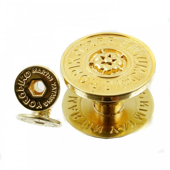 YOROPIKO Gold plated button set