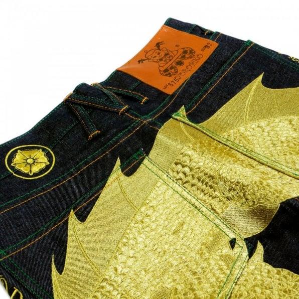YOROPIKO Hungry Dragon Gold Jean