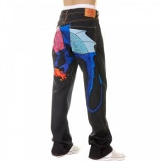 Hungry Dragon Pink Royal Sky Denim Jean