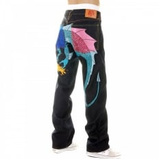 Hungry Dragon Royal Sky pink denim Jean