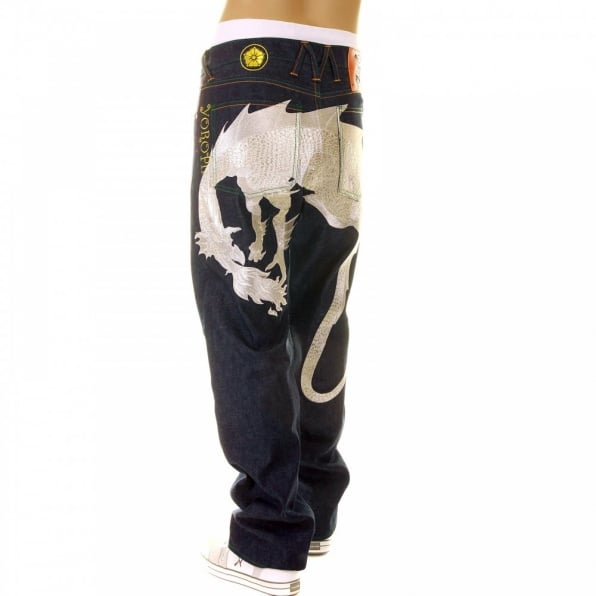 YOROPIKO Hungry Dragon Silver Jeans