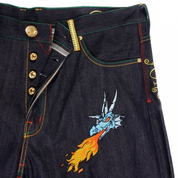YOROPIKO Hungry Dragon Sky blue Jeans