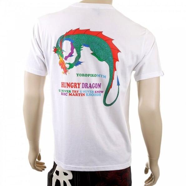 YOROPIKO Hungry Dragon White T shirt