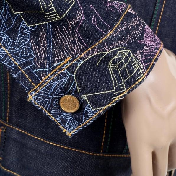 YOROPIKO Jay Z Embroidered Denim Jacket