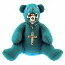 YOROPIKO Limited Edition Teddy bear in teal blue colour
