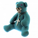 YOROPIKO Limited Edition Teddy bear in teal blue colour