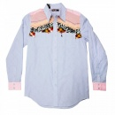 YOROPIKO Mens Long sleeve Shirt Blue