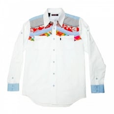 Mens long sleeve shirt in white
