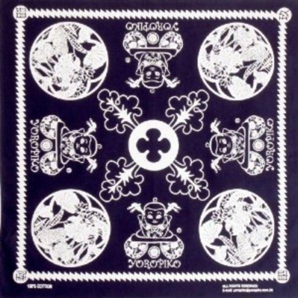 YOROPIKO Navy Printed Bandana