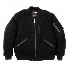 Padded Wool Black Jacket