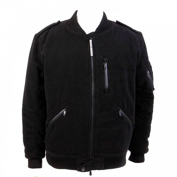 YOROPIKO Padded Wool Black Jacket
