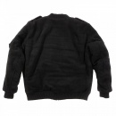 YOROPIKO Padded Wool Black Jacket