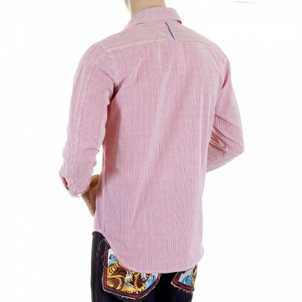 YOROPIKO Pink Check Shirt