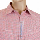 YOROPIKO Pink Check Shirt