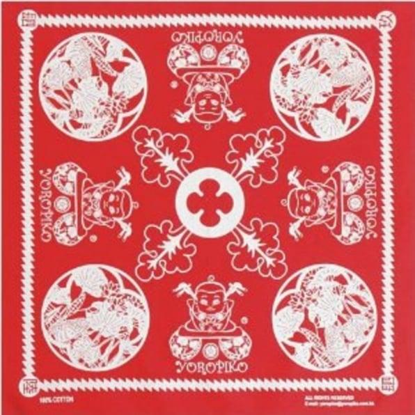 YOROPIKO Red Printed Bandana