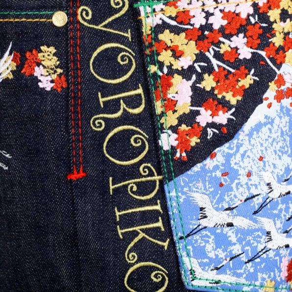 YOROPIKO Sakura Bird denim Jean