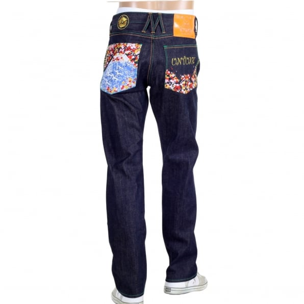 YOROPIKO Sakura Bird denim Jean