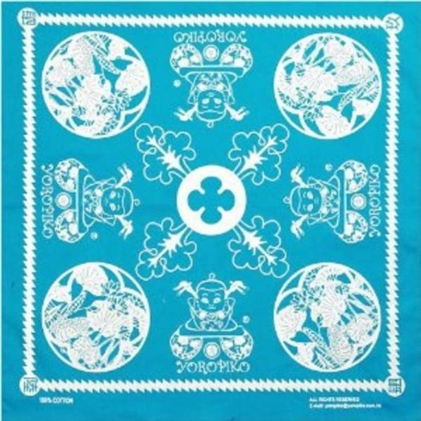 YOROPIKO Sky Blue Printed Bandana