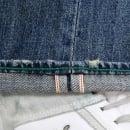 YOROPIKO Stone Washed Classic Cut denim jean