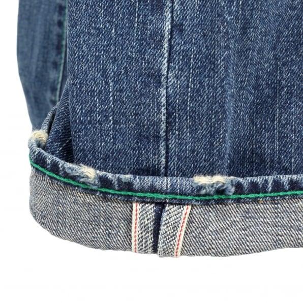 YOROPIKO Stone Washed Jeans With Flap Pocket