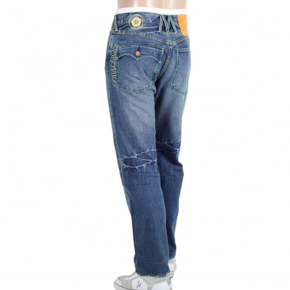 YOROPIKO Stone Washed Jeans With Flap Pocket