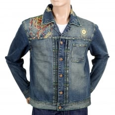 Stone Washed Pencil Skull denim Jacket