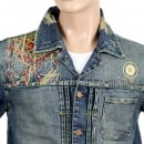 YOROPIKO Stone Washed Pencil Skull denim Jacket