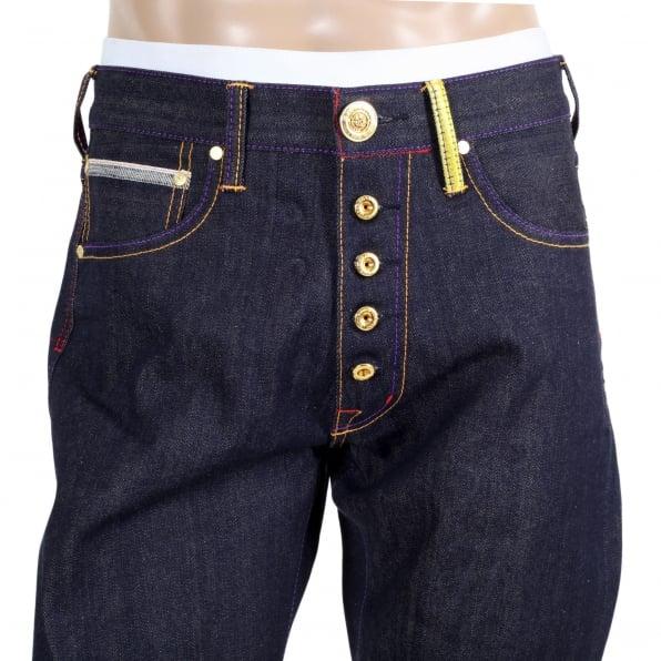 YOROPIKO Taiko Flag Denim Jeans