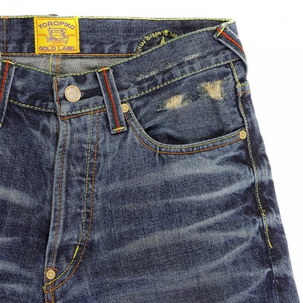 YOROPIKO Washed Denim Jean